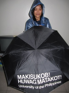 HAD Susan studied in UST instead of UP, it would have been makilublob (sa baha). Come on in! The floodwater is fine. :-D