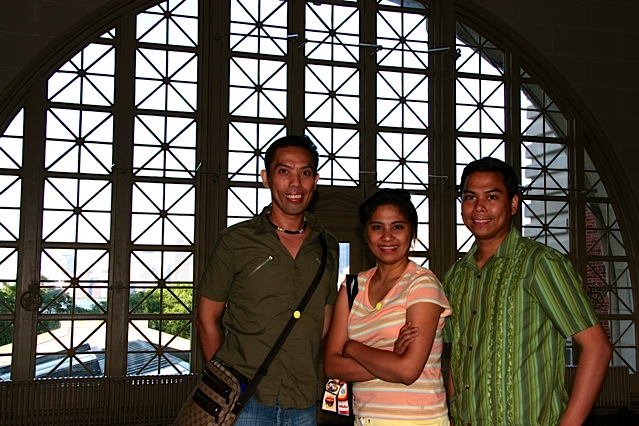 BRINGING UP BABIES. My sister Farida, brother Ronnie and I during a visit to Elise Island in New York in 2005.
