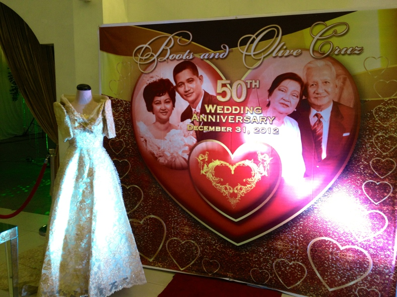 BOOTS and Olive Cruz, featuring the bride's 50-year-old bridal terno, then and now.