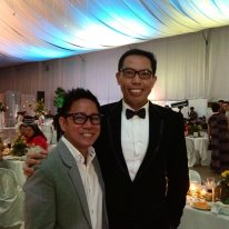 ANJOY Hipolito, the principal perpetrator in the 1981 banderitas caper, and I, his willing accomplice, during a pre-New Year event in late 2012.