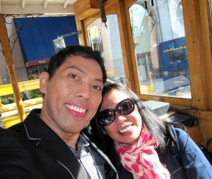 PRETTY as a picture: Tanya and I do the streets of San Francisco.