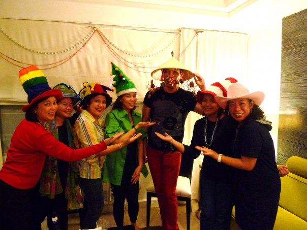 HAT party in Christmas 2008 has gone mad!