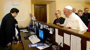 HANDS-ON Pope pays his hotel bills. (www.news.com.au)