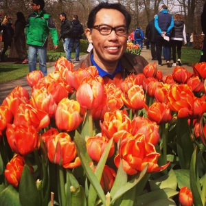THERE'S  a reason why these tulips are orange, and not pink or violet. Let me get back to you on the answer.
