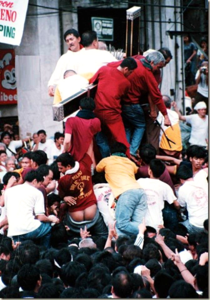 ONE of the many behind the scenes possibilities that await Brown should he join the Black Nazarene procession. (August dela Cruz)