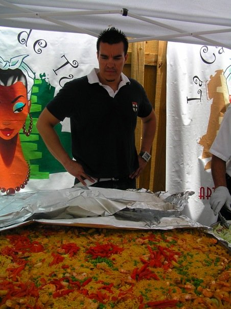 THIS has got to be the world's biggest paella!