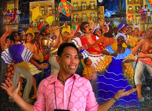 MIAMI'S lively street scene of long ago is captured in this painting.