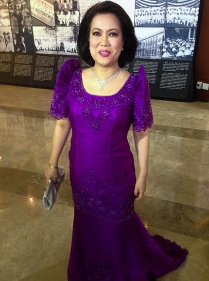 CHIEF Justice Lourdes Sereno, in an embroidered and semi-beaded piña terno dyed purple, could teach De Lima a thing or two about fashion.