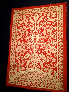 THIS bright wall hanging from Mindanao, which teems with Indian influences, symbolizes fertility.