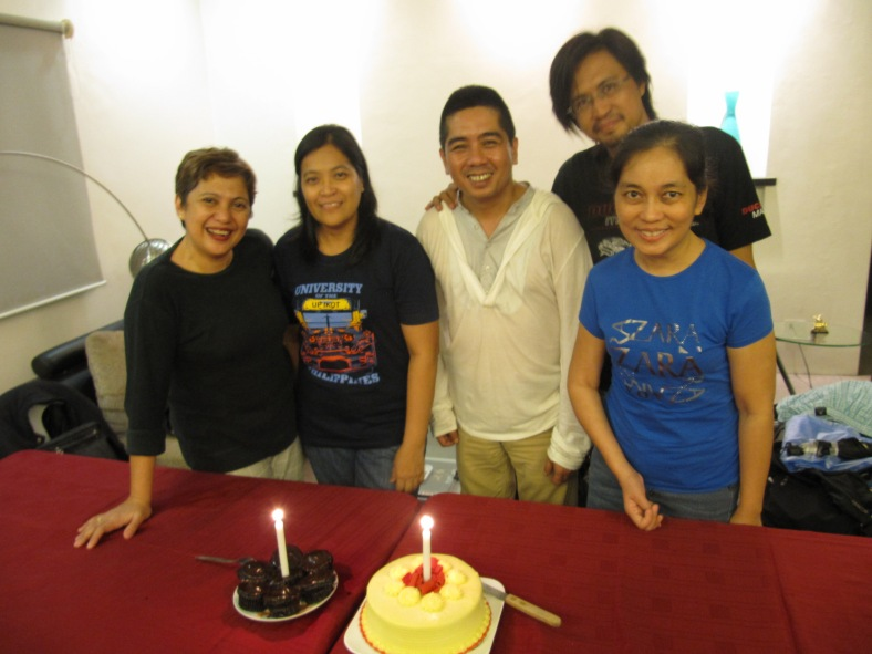 AUGUST-BORN celebrants, including Leah, in 2012