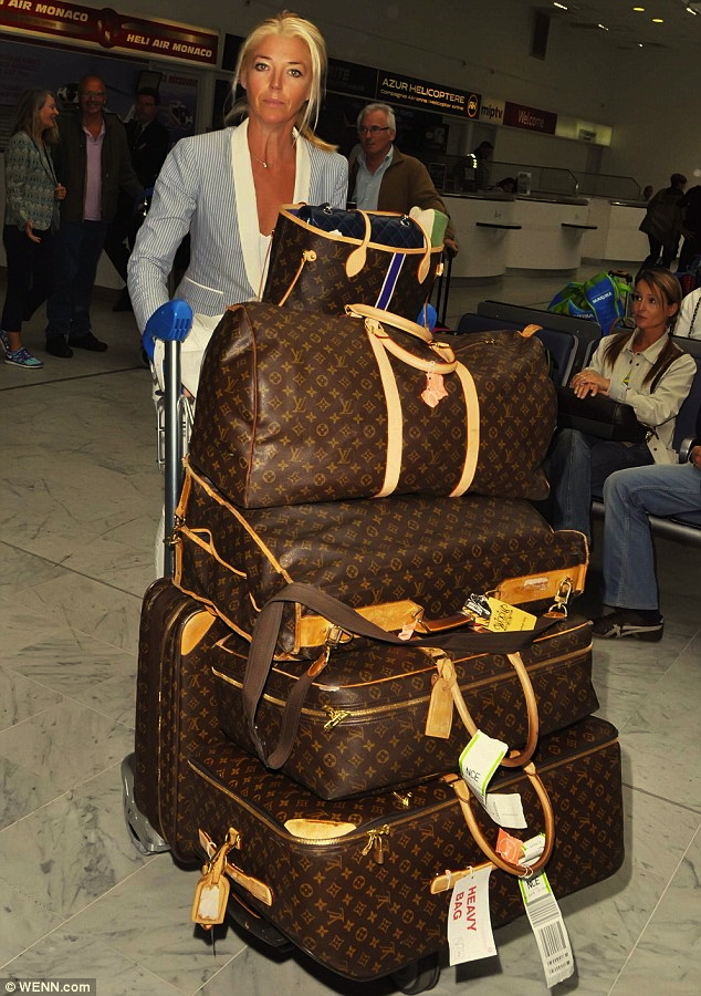 NOTE to British socialite Tamara Beckwith: never get a tan that matches your Louis Vuitton bags (the daily mail)