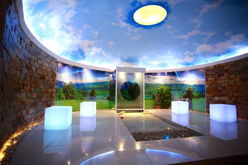 "SET on a hill, ""Sa 'yo Lamang,"" by Cyrille Carreon, Vanessa, Quinones, Regina Mascardo, France Gomez and Krizallyne Villeta, is a Zen-inspired, non-sectarian prayer room."