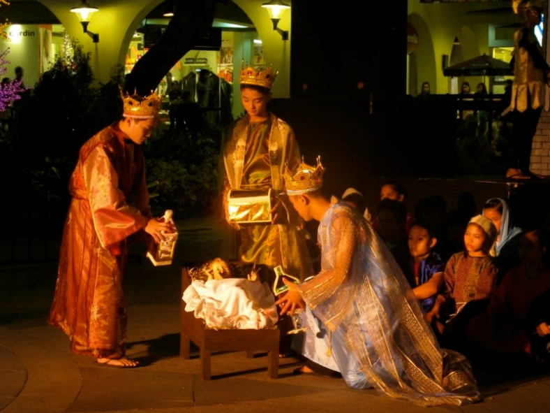 KIDS from Tuloy sa Don Bosco stage their version of the Christmas Story.