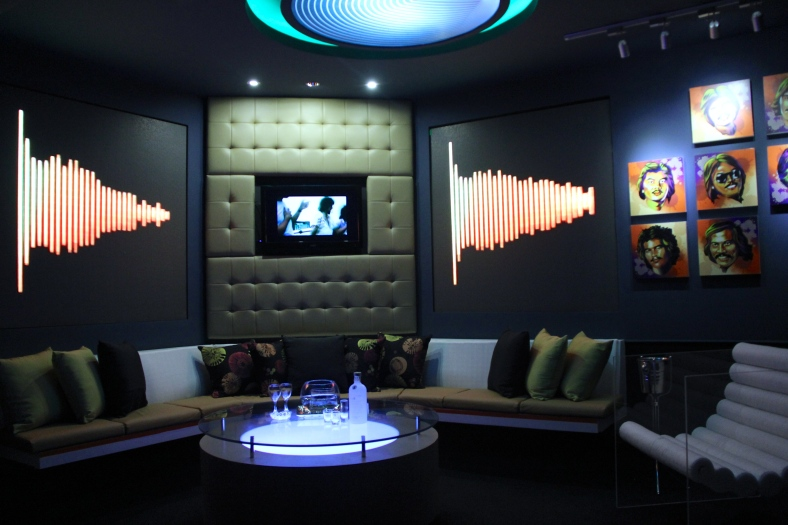 """AWITIN Mo at Isasayaw Ko,"" by Desiree Yao, Rachelle Uy, Alshiey Senosa, Dilly Guerrero, Sarah Martinez, Miko Ukena, merges the '70s and the new millennium to produce a high-tech VIP room."