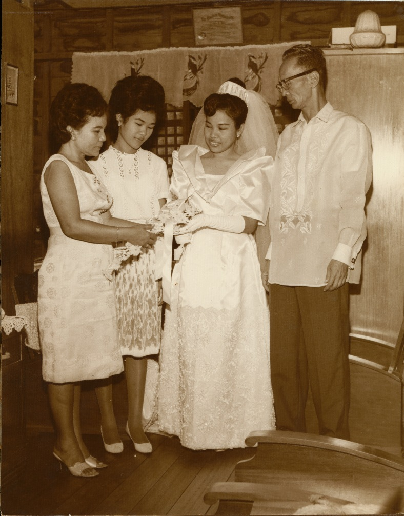 MY mother Gilda, the blushing bride, with my late Lola Nene, Tita Ching and Lolo Turing, almost 50 years ago
