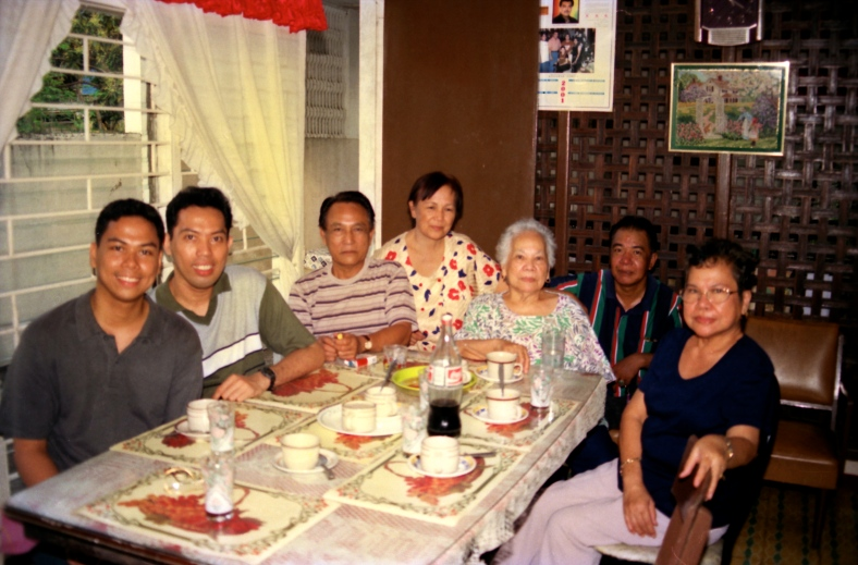 MY late grandmother, fifth from left, with relatives in Batangas