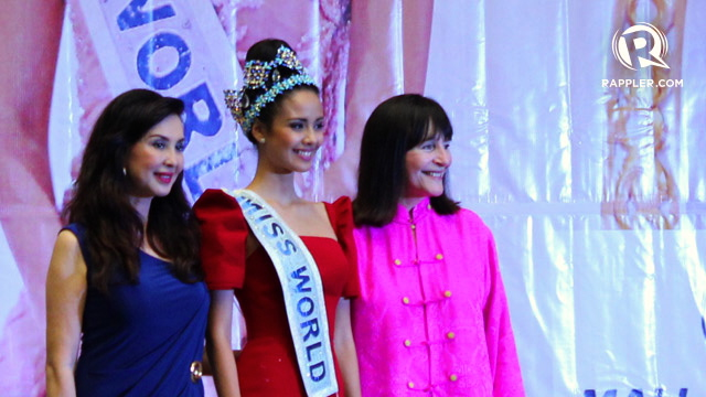JULIA Morley, with Cory Quirino, bet this time on the right horse named Megan Young. (www.rappler.com)