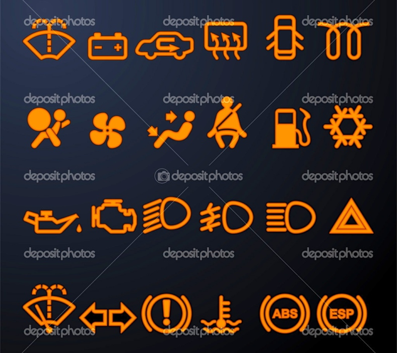 NEVER take a blinking dashboard icon for granted (depositphotos.com)