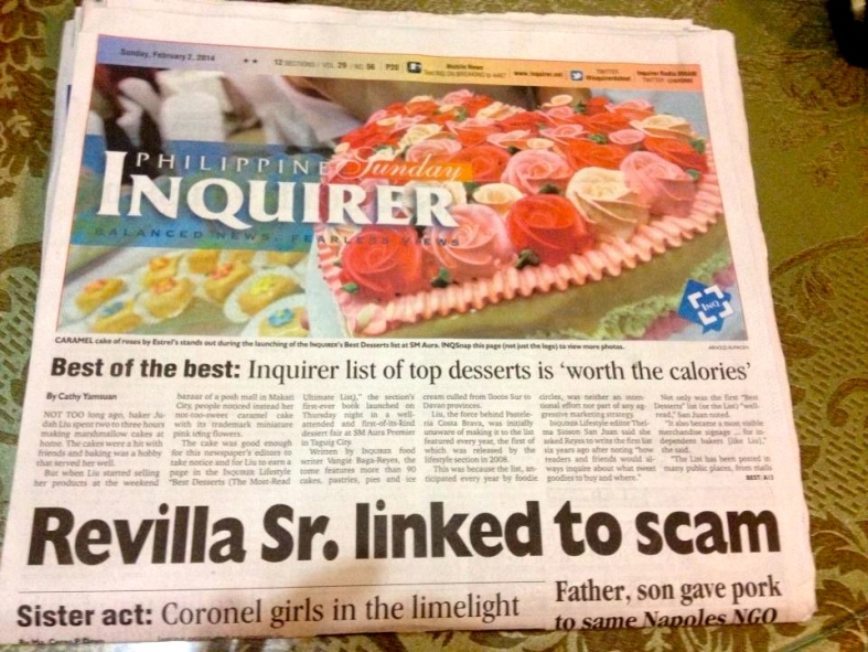 HALF of the big picture, including a new angle on the pork barrel scam involving former Sen. Ramon Revilla Sr., a.k.a. Pogi's dad, of Inquirer's front page on February 2.