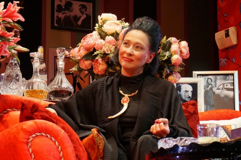 "NO second-rate trying hard copy cat, actress Cherie Gil channels Diana Vreeland with full conviction and believability in Bart Guingona's staging of ""Full Gallop."" (www.wazzuppilipinas.com)"