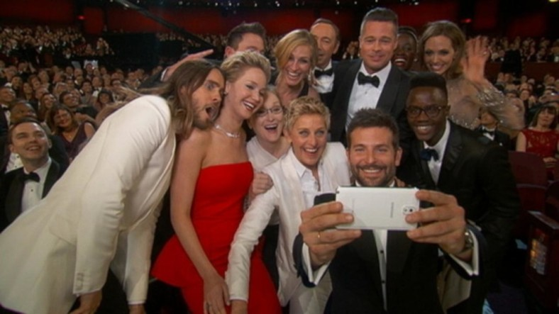 THE group selfie that started it all nearly crashed Twitter's servers the night Oscar host Ellen DeGeneres posted it.