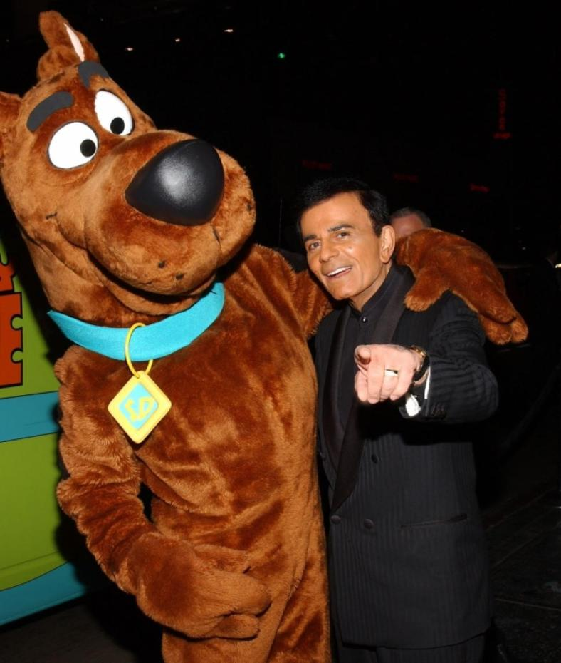 WITH his on-screen partner Scooby-Do