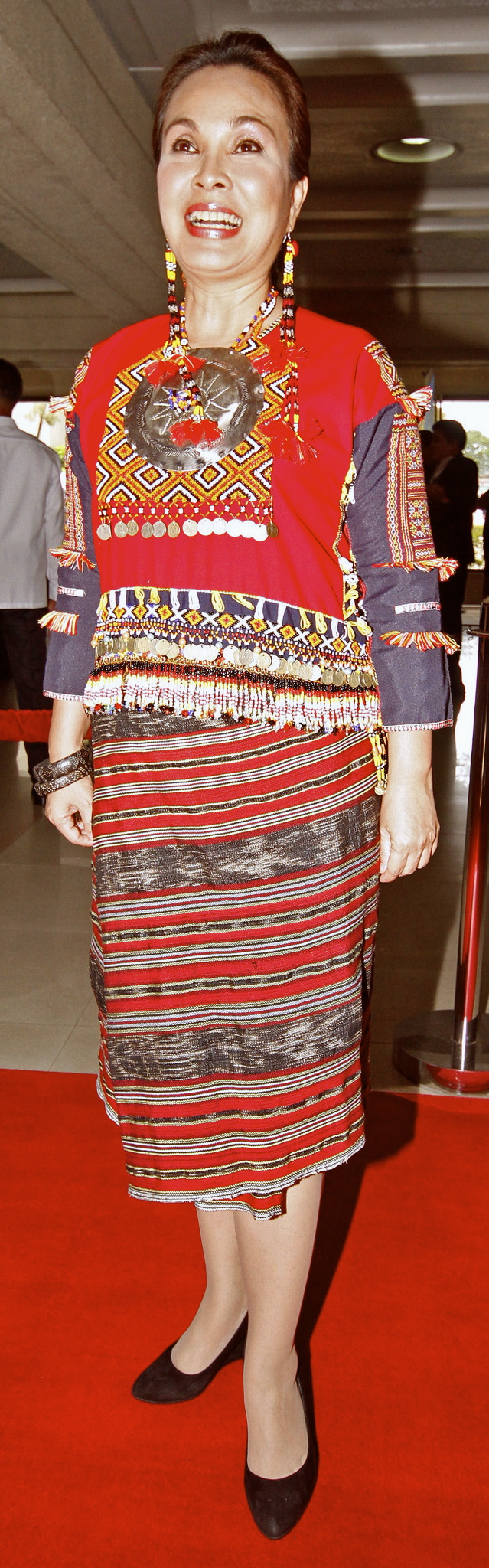 SEN. Loren Legarda in an authentic Mandaya costume except for her pair of Gucci shoes (Alexis Corpuz)
