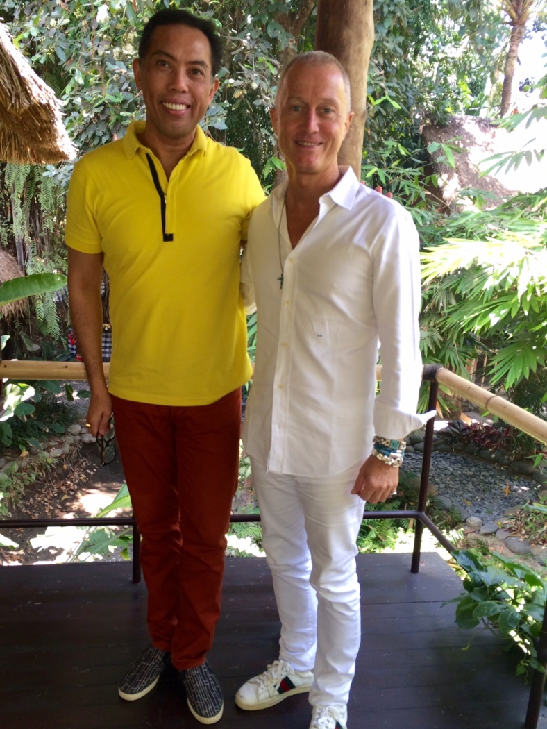 GUY Bedarida and I after our interview at John Hardy's Ubud compound