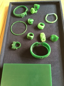 MOLDS of jewelry pieces in the making