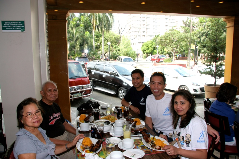 A RARE meal together some years back in Manila