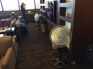 ELECTRIC fans at the NAIA 1's lounge? You better believe it.