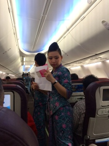BUSINESS as usual on board Malaysia Airlines