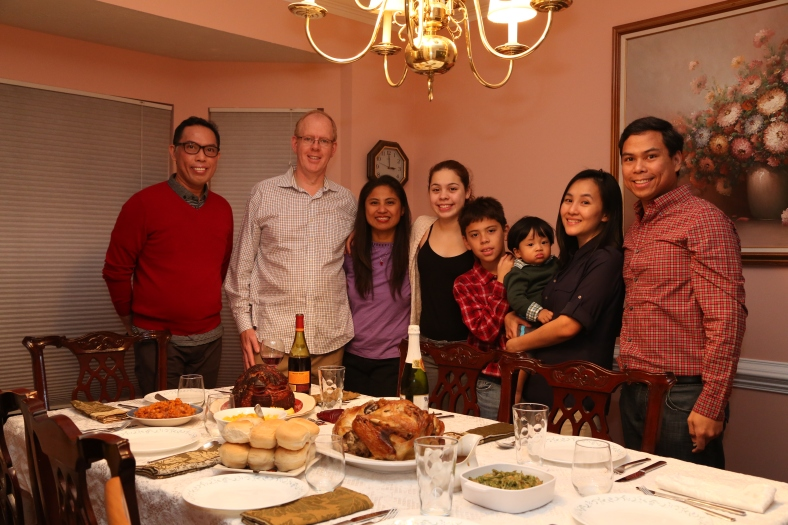 RECENT Thanksgiving dinner with family in the US