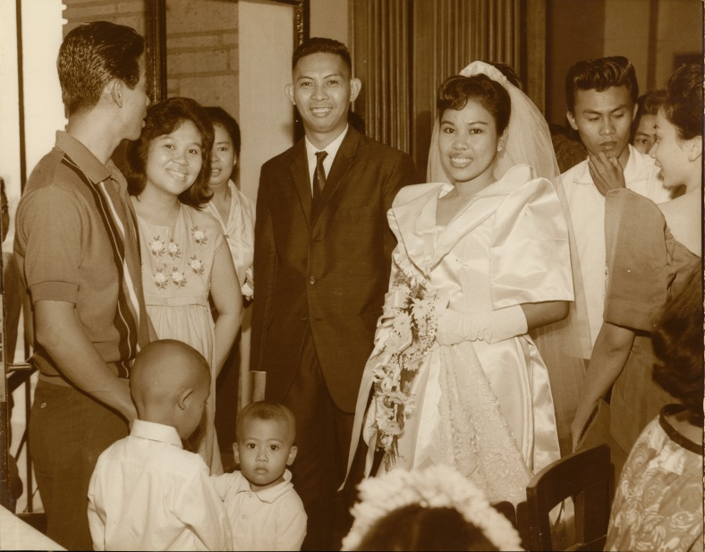 MY DAD and Mom, Vicente and Gilda, with guests, including Victorino and Angelita, during their wedding day.