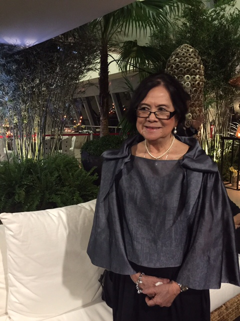 LJM didn't like her pictures taken, but for some reason, says Inquirer Lifestyle editor Thelma San Juan, she gamely posed during the APEC event. The stylish LJM wears a Pepito Albert top.